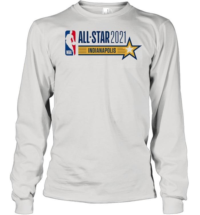 All Star Game Indianapolis 2021 Fan American Basketball shirt Long Sleeved T-shirt