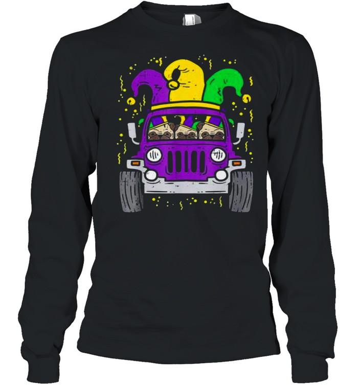 Jeep mardi gras shirt Long Sleeved T-shirt