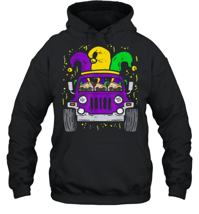 Jeep mardi gras shirt Unisex Hoodie