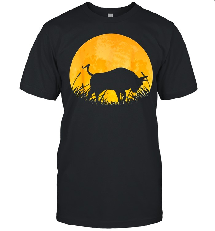Ox Easy Halloween Outfit Cattle Oxen Moon Costume shirt