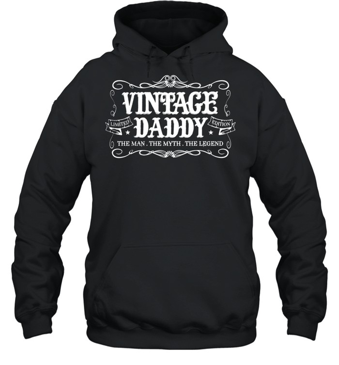 Fathers Day from Son Daughter Wife Vintage Daddy shirt Unisex Hoodie