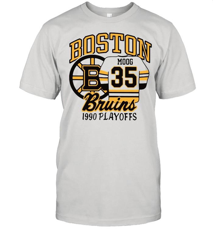 Boston Moog 35 Bruins 1990 playoffs shirt
