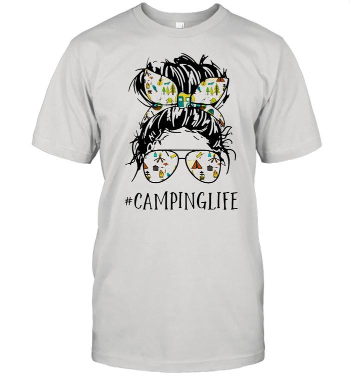 Camping Life Ladies Wear Ribbon And Sunglasses shirt