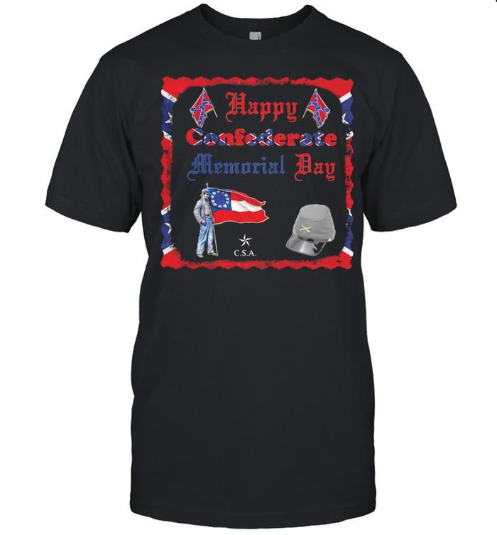 Happy Confederate Memorial Day Veteran Flag shirt