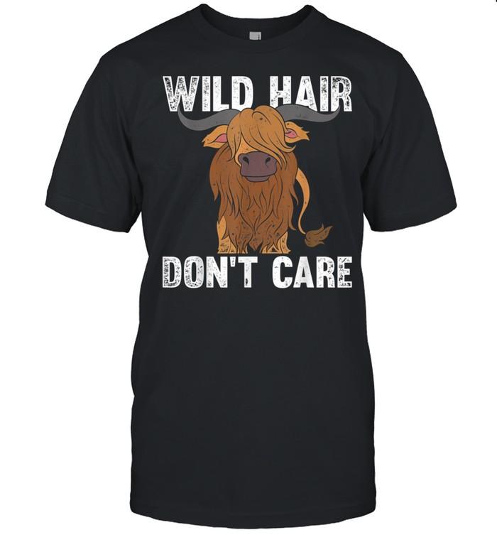 Wilde Haare sind mir egal Lustiges Schottisches Hochlandrind shirt
