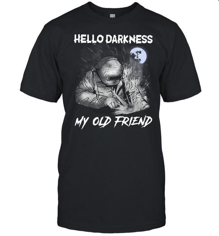 Welder Hello Darkness My Old Friend Kids T-shirt