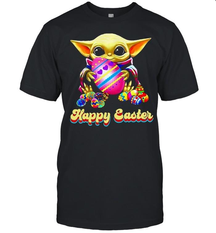 Baby Yoda Hug Easter Egg Happy Easter 2021 shirt