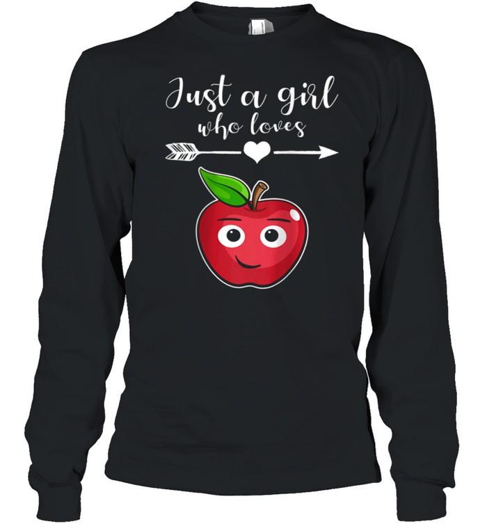 Fruit Applet Humor Girl Apple Lover Fruit Apple shirt Long Sleeved T-shirt