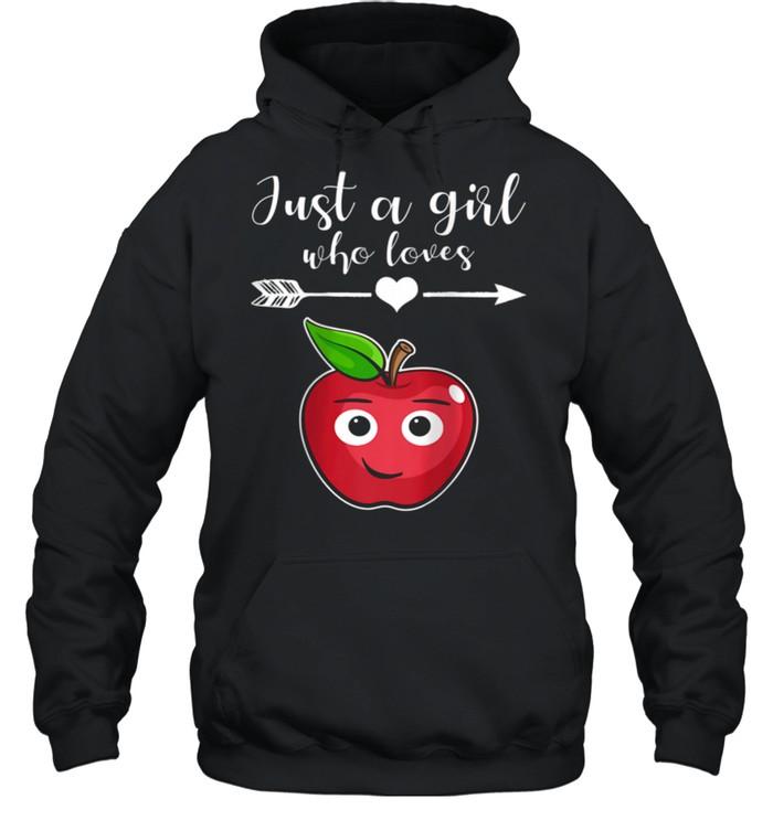 Fruit Applet Humor Girl Apple Lover Fruit Apple shirt Unisex Hoodie