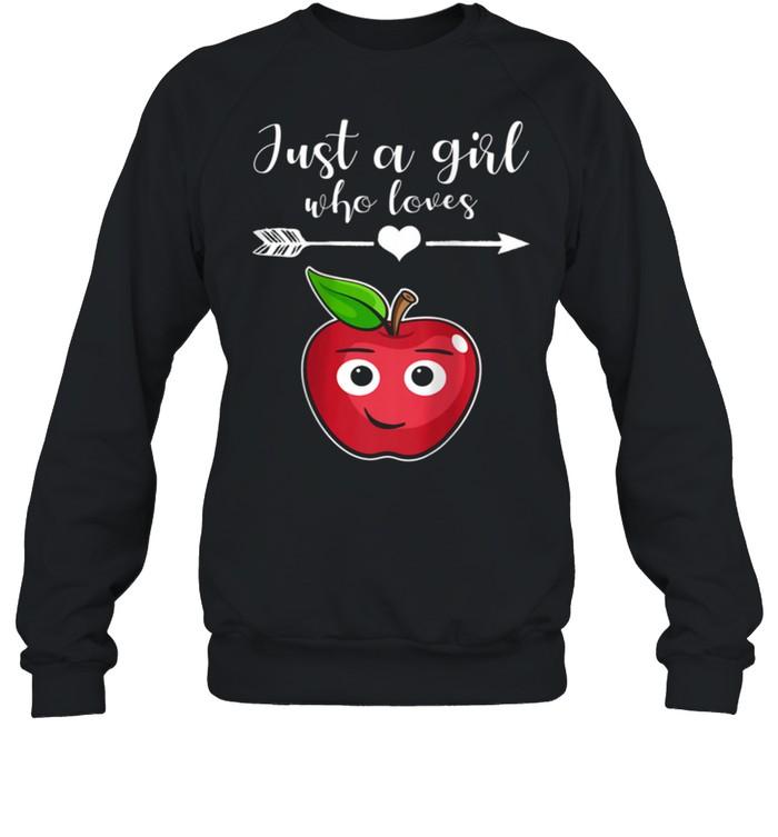 Fruit Applet Humor Girl Apple Lover Fruit Apple shirt Unisex Sweatshirt
