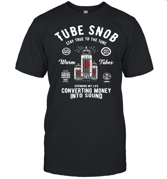 Vacuum Tube Guitar Bass Tube Amp Converting Money Into Sound Vintage T-shirt
