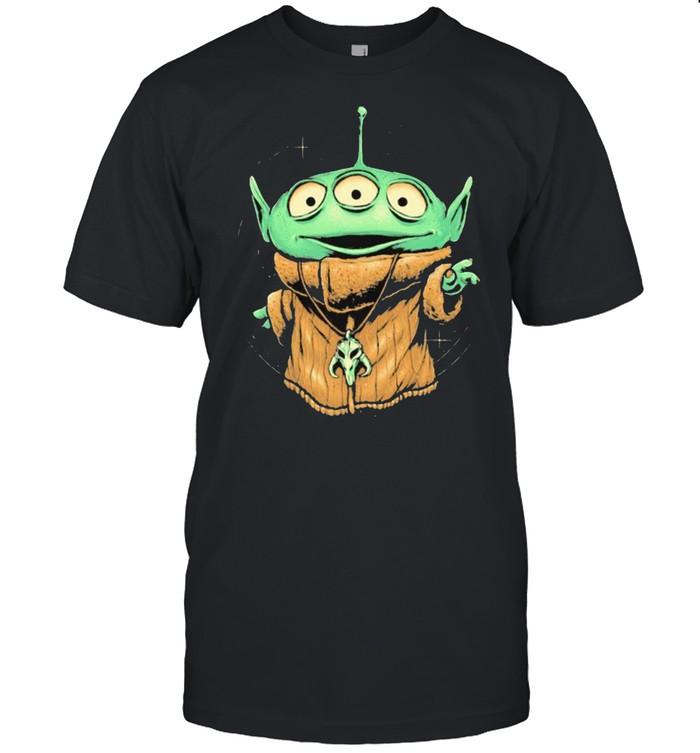 Alien Monster In Baby Yoda Shirt