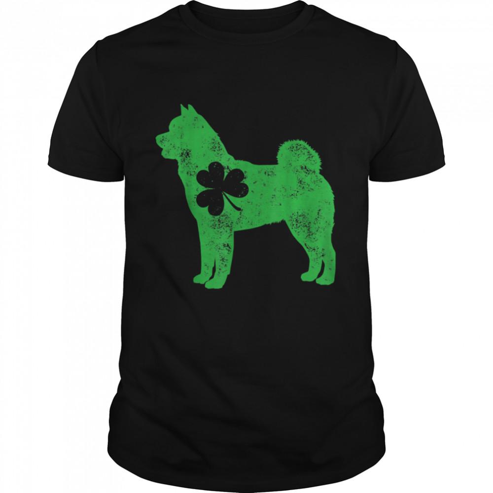 Akita Inu St Patricks Day Boys Girls Shamrock Dog shirt