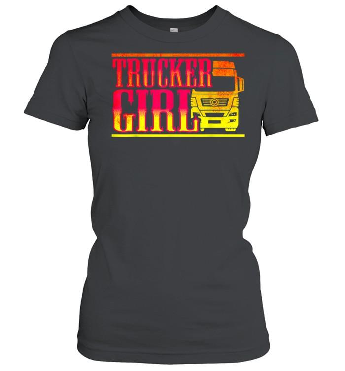 Trucker Girl shirt Classic Women's T-shirt