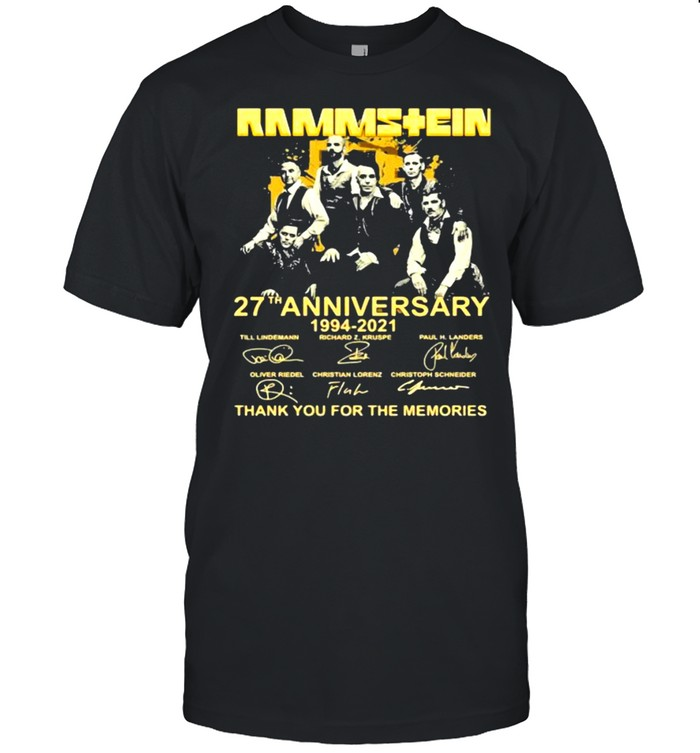 Rammstein 27th Anniversary 1994 2021 Thank You For The Memories Signature Shirt