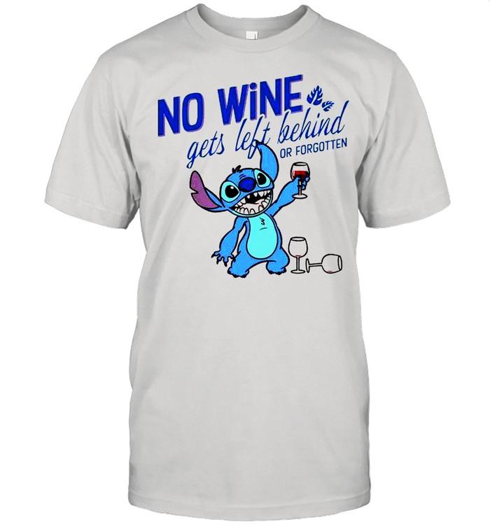 Stitch no wine gets left behind or forgotten shirt