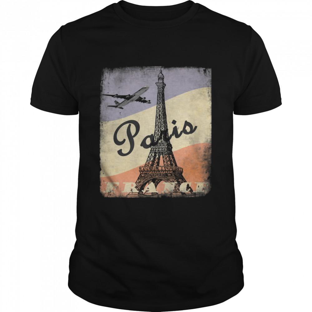Cool Vintage Aesthetic Authentic 50's Old School Paris shirt