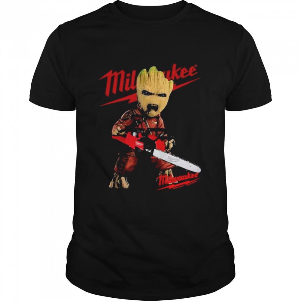 Groot With Logo Milwaukee Shirt