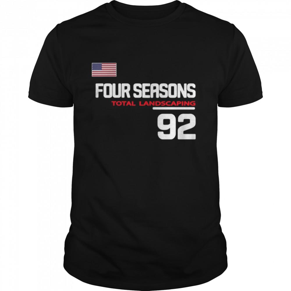 Four Seasons Total Landscaping 92 American Flag Shirt