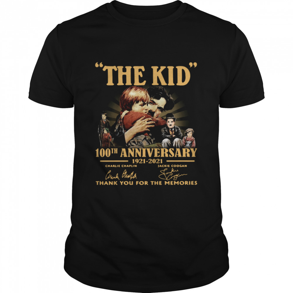 The Kid 100th anniversary 1921 2021 signatures thank you for the memories shirt