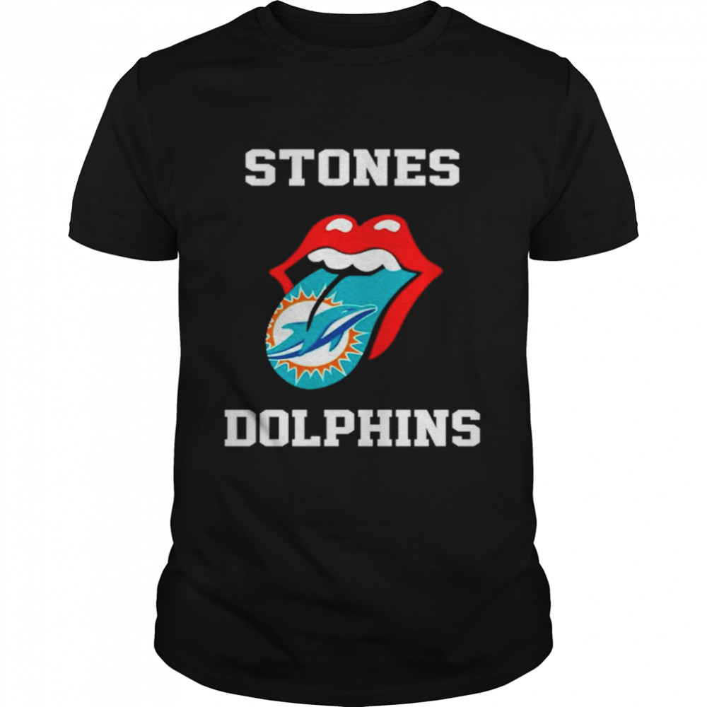 The Rolling Stones Miami Dolphins lips shirt