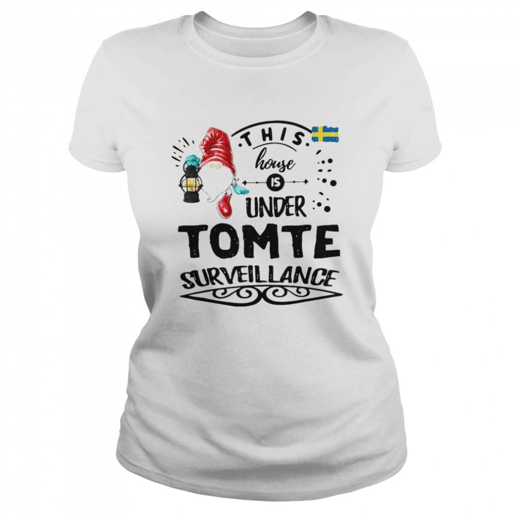 This House Is Under Tomte Surveillance T-shirt Classic Women's T-shirt
