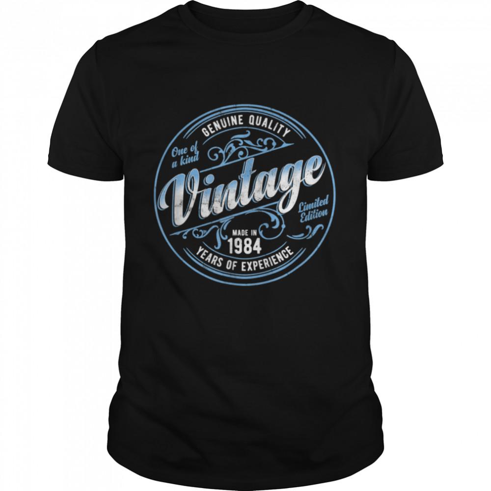 Vintage Made In 1984 Genuine & Original 37th Birthday Shirt