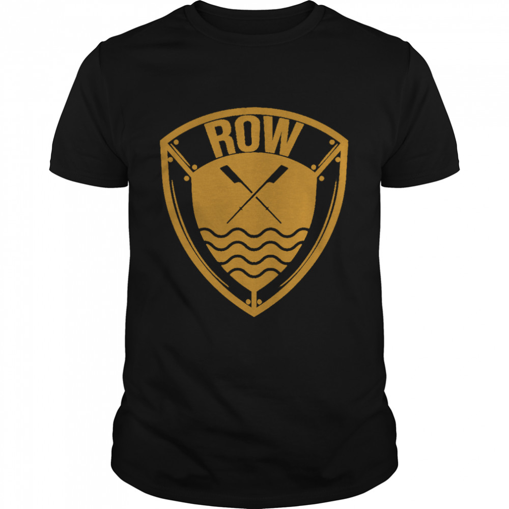 Cool Distressed Row Rowing Rowers Shirt