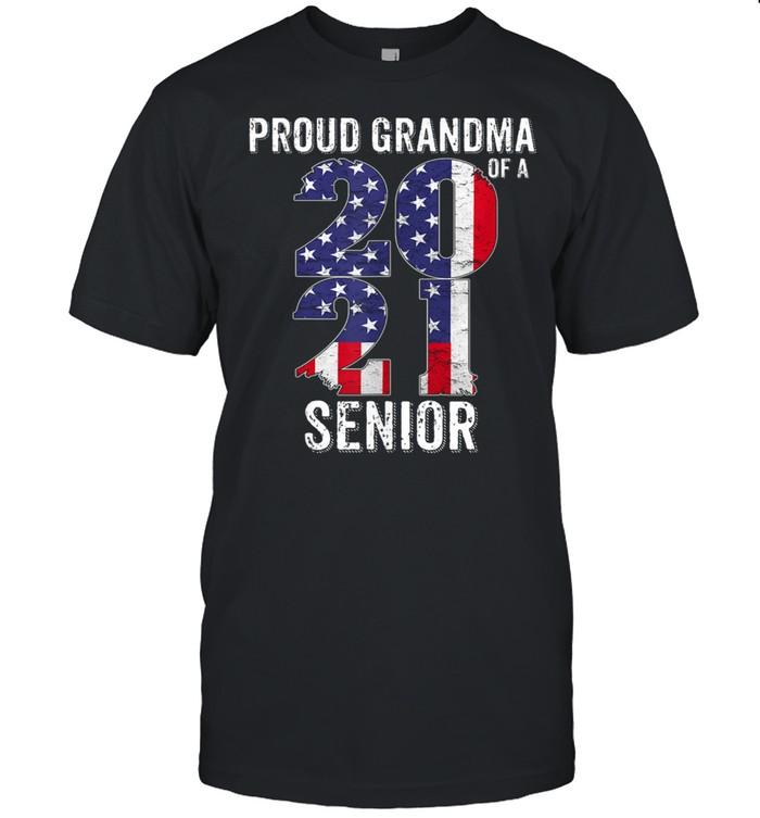 Proud Grandma of a 2021 Graduate American flag Shirt