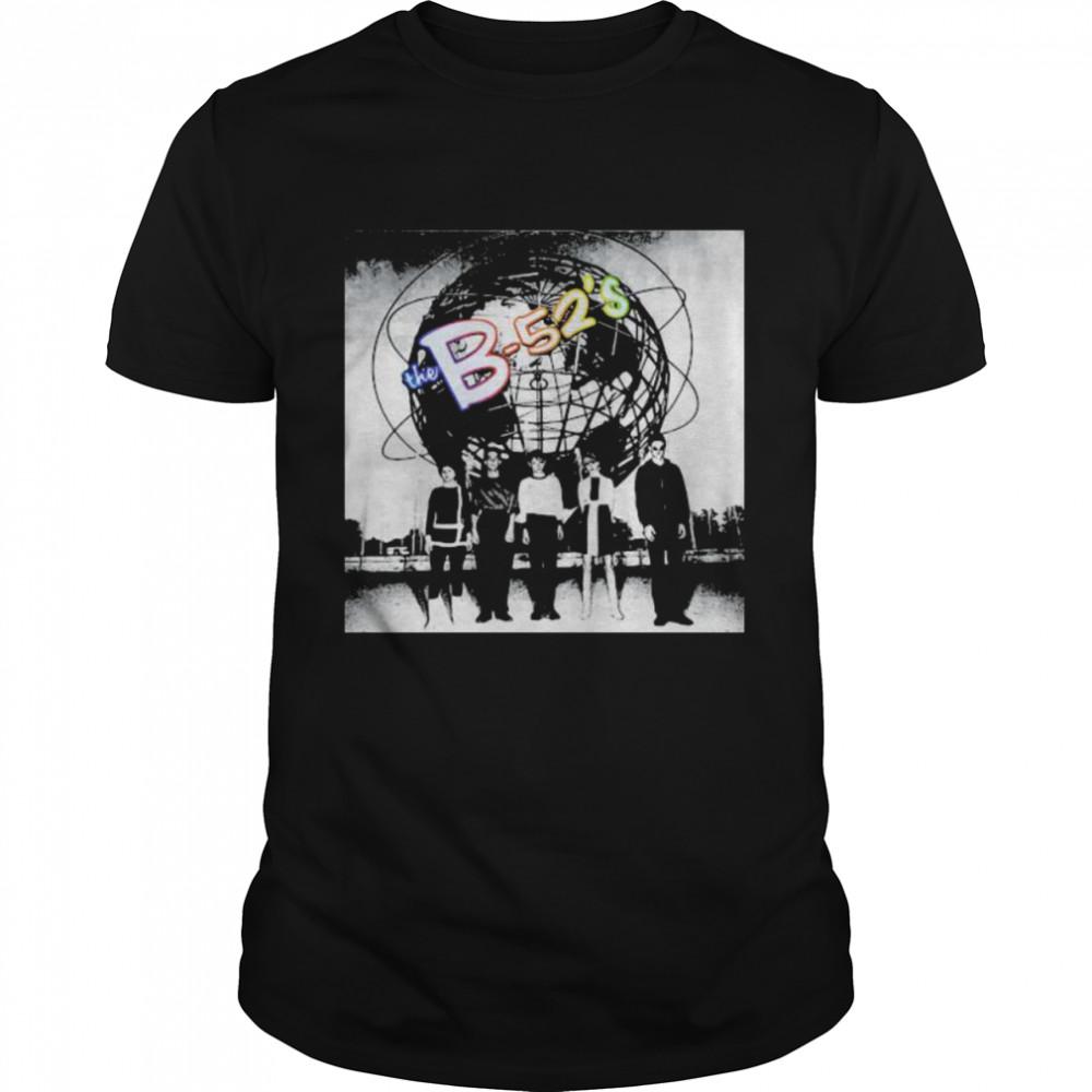The B-52's Retro Black White Shirt
