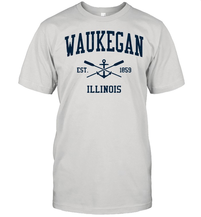 Waukegan IL Vintage Navy Crossed Oars & Boat Anchor shirt