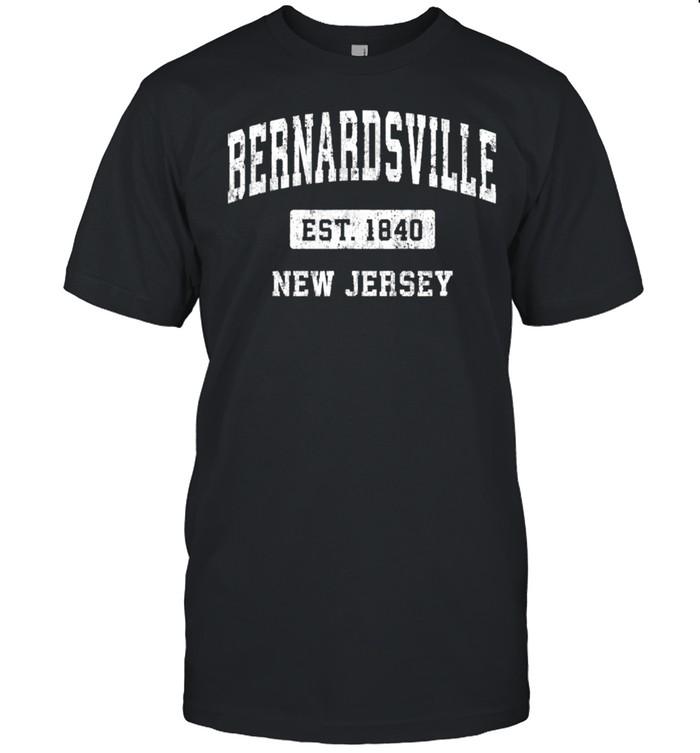 Bernardsville New Jersey NJ Vintage Sports Established Desig shirt