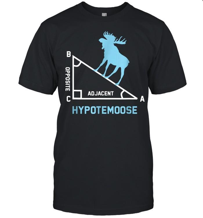 Triangle Geometry Math Teacher Hypotemoose Humor shirt