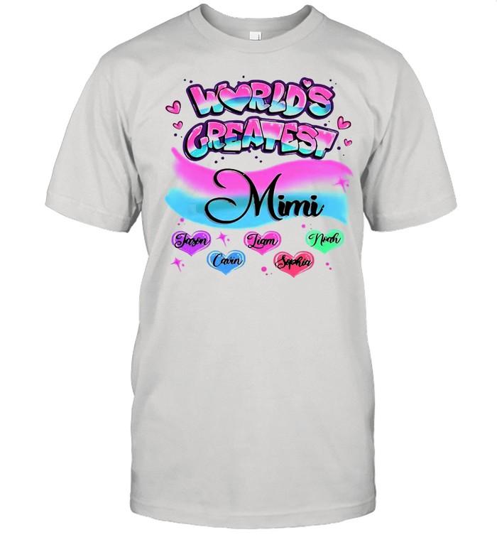 Girly World's Greatest Mimi T-shirt