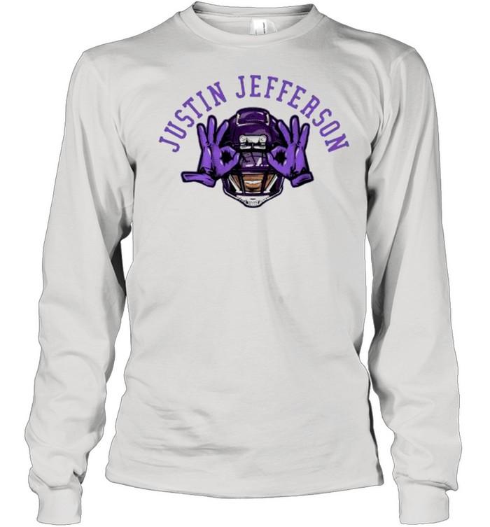 Justin jefferson Vikings football shirt Long Sleeved T-shirt