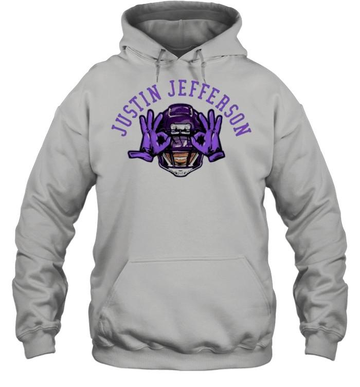 Justin jefferson Vikings football shirt Unisex Hoodie