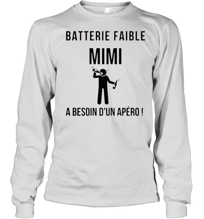 Batterie Faible Frenom A Besoin Dun Apero shirt Long Sleeved T-shirt