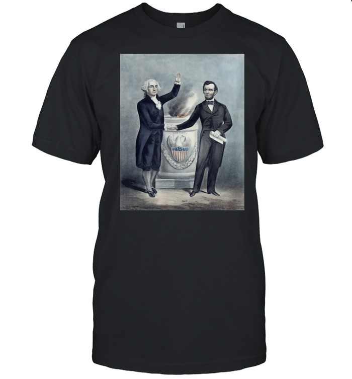 Washington and Lincoln Shaking Hands shirt