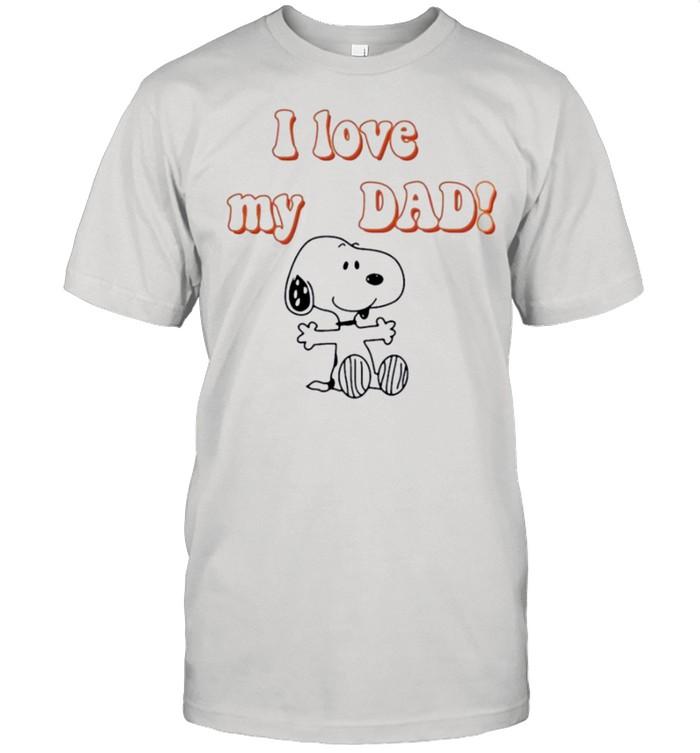 snoopy I love my dad shirt