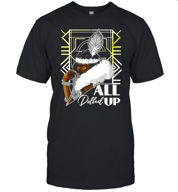 Harlem Renaissance 1920S Black Flapper Shirt