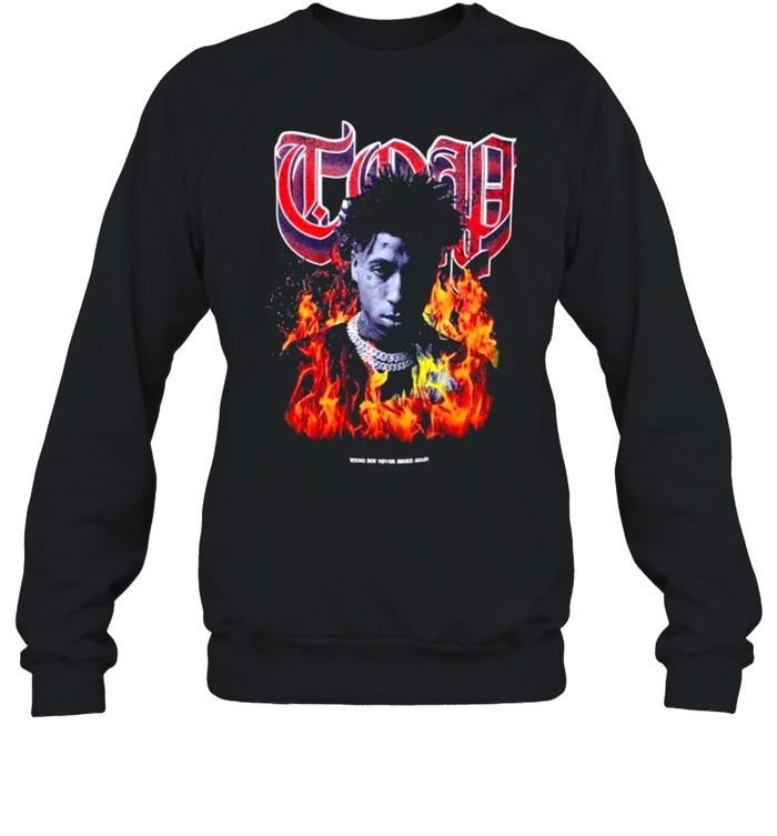 Young Boy shirt Unisex Sweatshirt