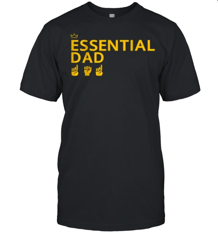 Essential Dad Black Dad African American Pride T-Shirt
