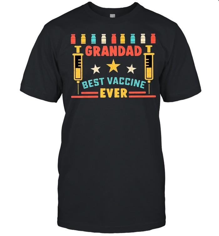 Retro Grandad Best Vaccine Ever shirt