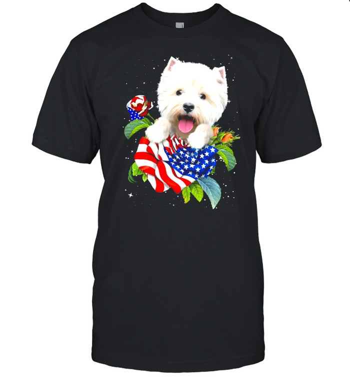 Westie Hide on Rose Gift for you shirt