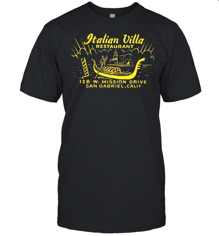 Italian Villa restaurant shirt
