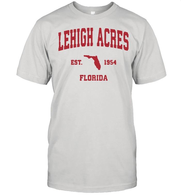 Lehigh Acres Florida 1954 FL Vintage Sports shirt