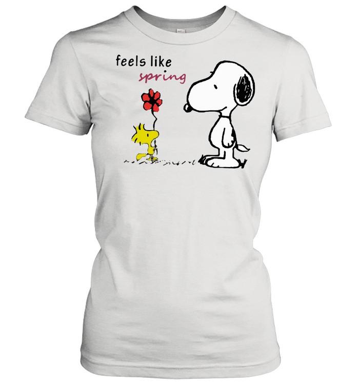 Feels like spring woodstock snoopy shirt Classic Women's T-shirt