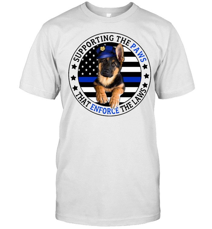 American Flag Supporting The Paws That Enforce The Laws Vintage Shirt