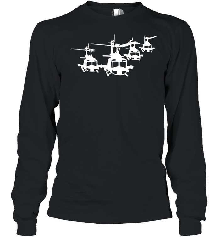 Huey Helicopter Long Sleeved T-shirt