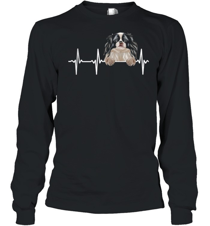 Dog Heartbeat For Japanese Chins shirt Long Sleeved T-shirt